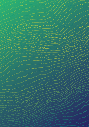 Geometrical Vibrating Lines Green Blue Gradient Vertical Background