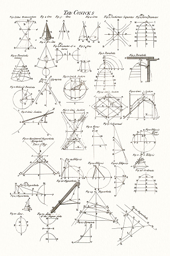 geometry and math 18 century diderot encyclopedia stock illustration -  download image now - istock