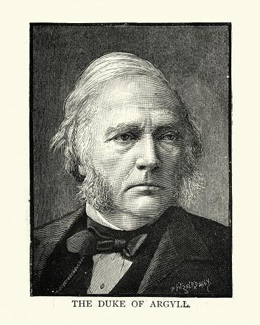 Vintage illustration of George Campbell, 8th Duke of Argyll