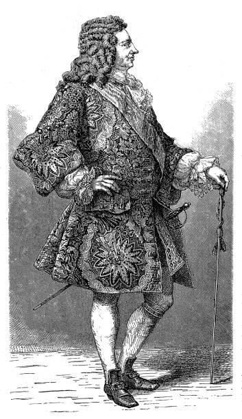 illustrazioni stock, clip art, cartoni animati e icone di tendenza di george i ,king of england - xx° secolo