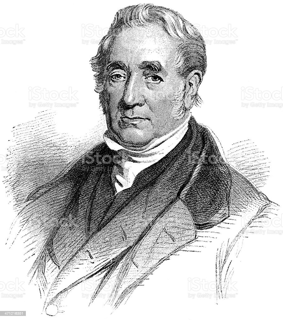 George Stephenson vector art illustration