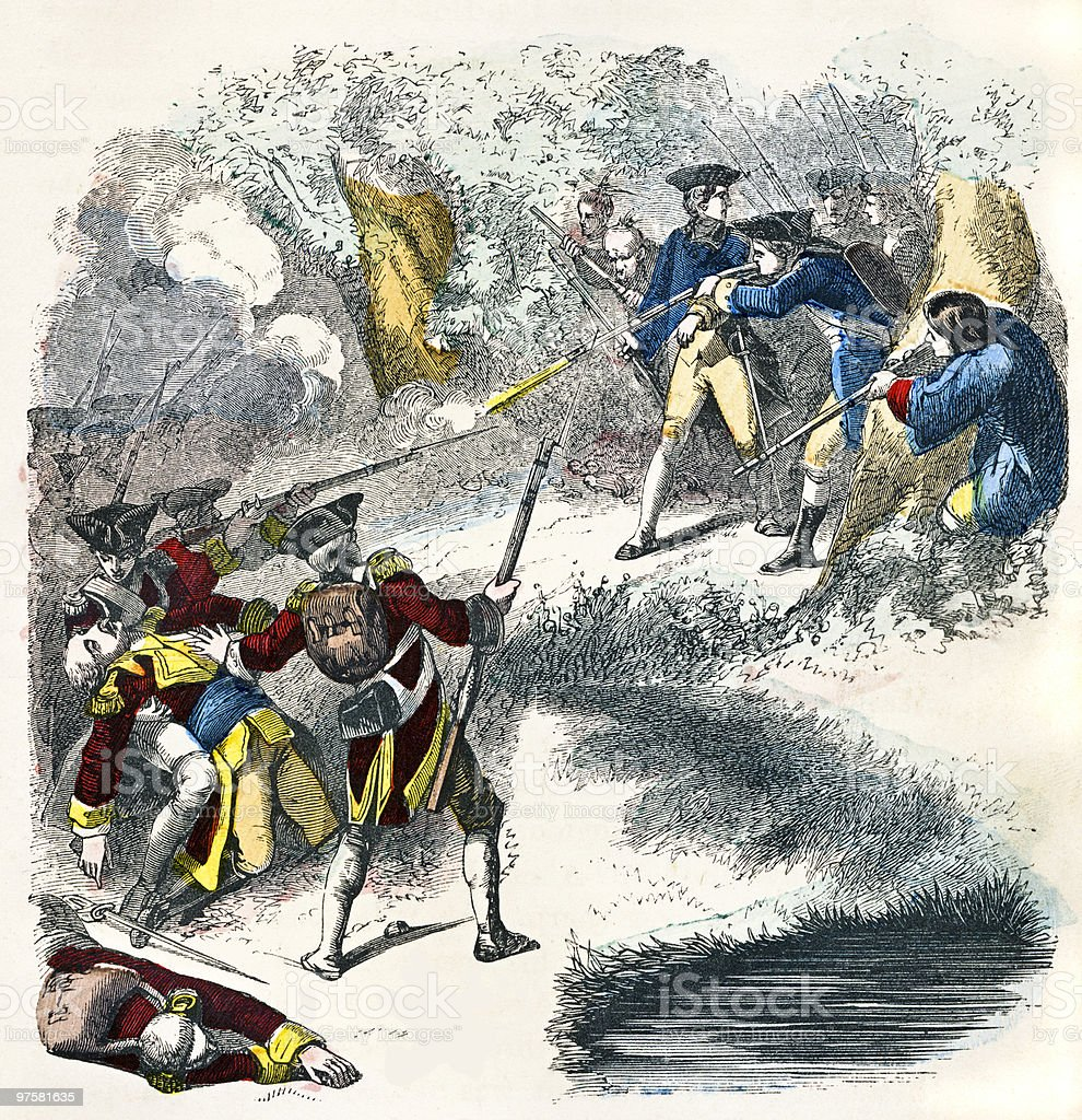 George Washington Ambushes soldats français george washington ambushes soldats français – cliparts vectoriels et plus d'images de antiquités libre de droits