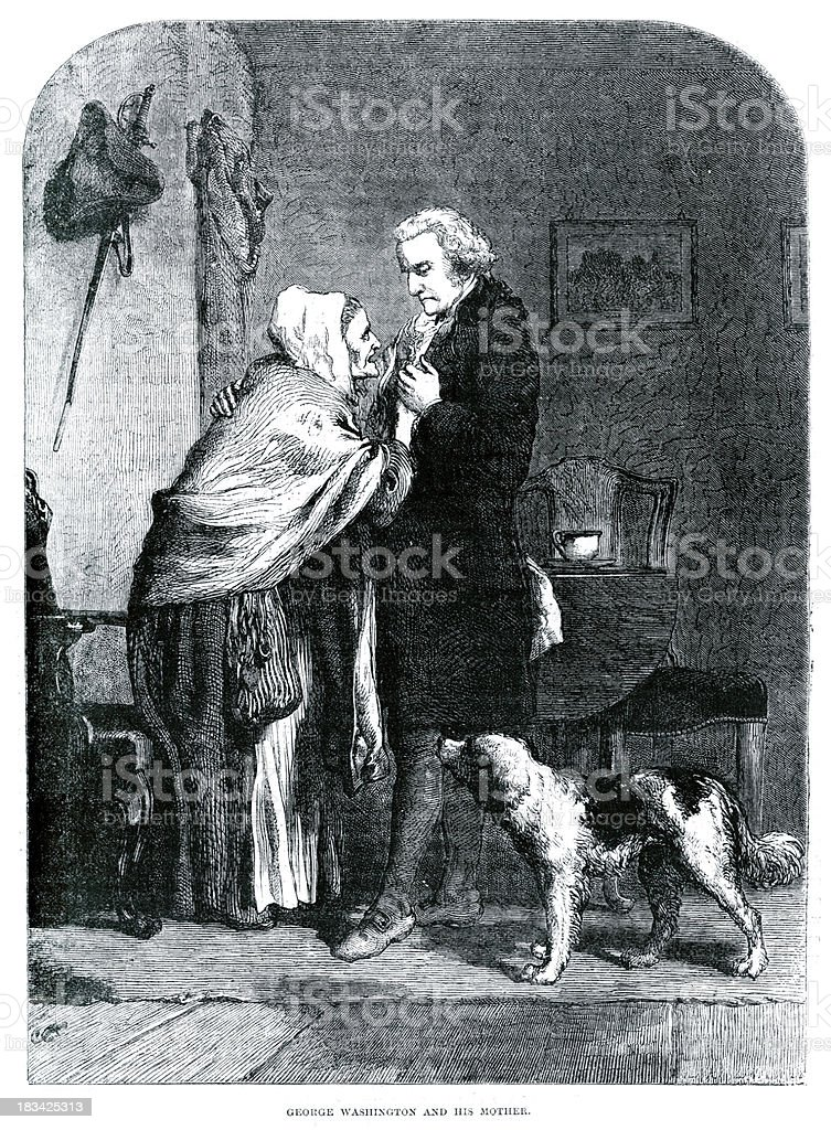 George Washington and his Mother royalty-free george washington and his mother stock vector art & more images of 18th century