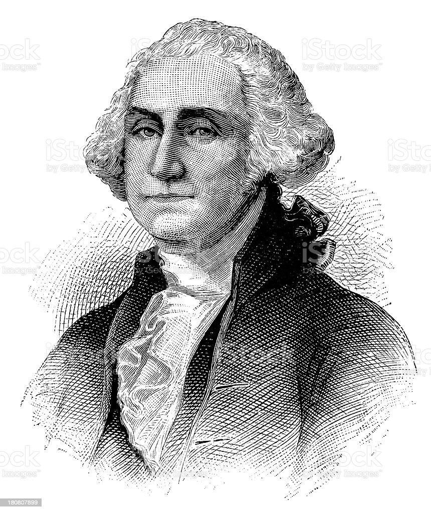 Ilustración de George Washingtonretrato De Antigüedades De Las ...