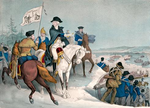 George Washington Crosses the Delaware River, 1776
