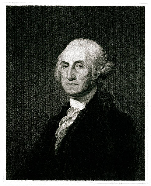 george washington - abd başkanı stock illustrations