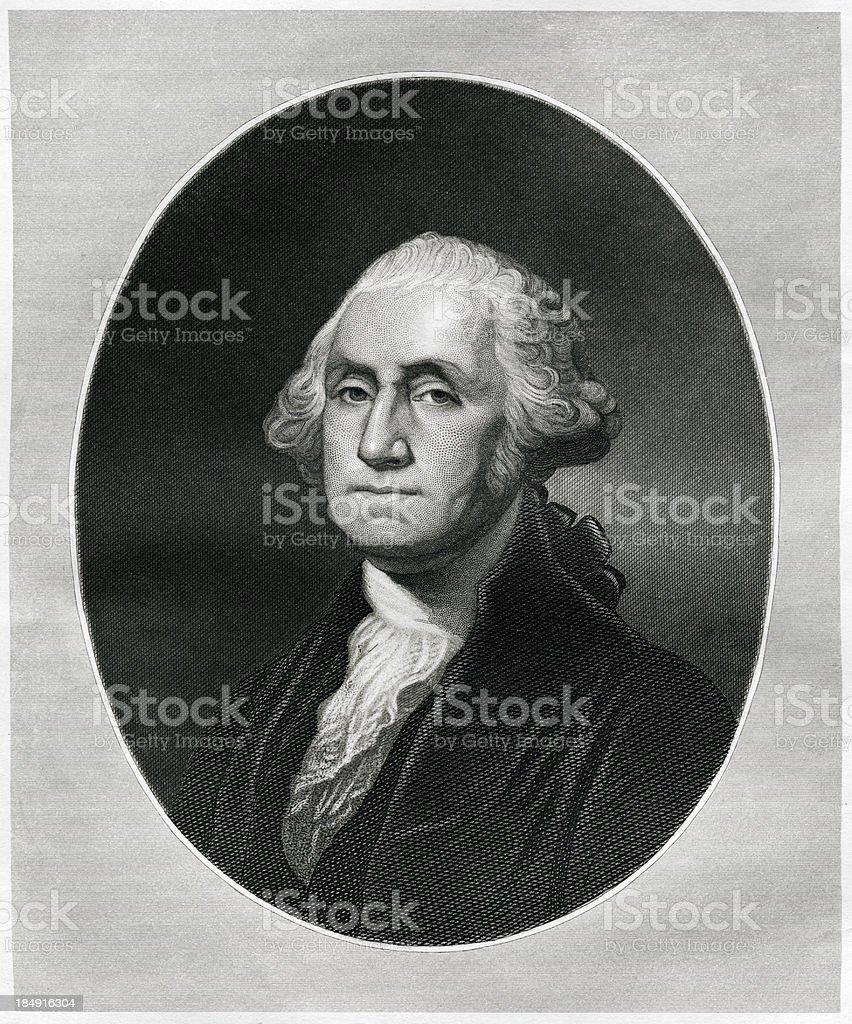 George Washington vector art illustration