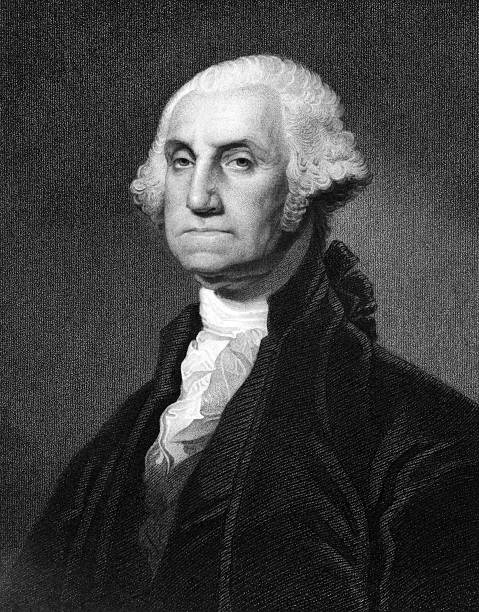George Washington George Washington (1731-1799) on engraving from 1873. First President of the U.S.A. during 1789-1797  and commander of the Continental Army in the American Revolutionary War during 1775-1783. Engraved by unknown artist and published in ''Portrait Gallery of Eminent Men and Women with Biographies'',USA,1873. major military rank stock illustrations