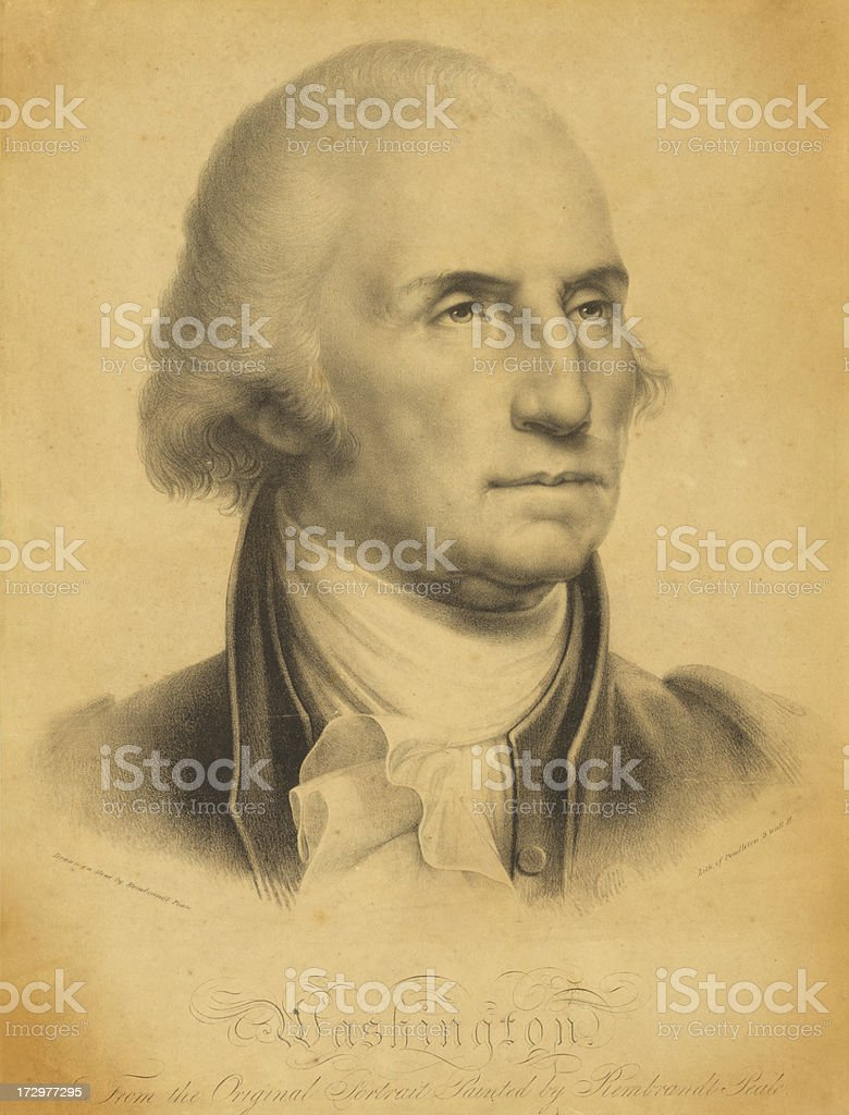 George Washington Print royalty-free stock vector art