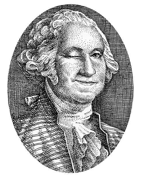 illustrazioni stock, clip art, cartoni animati e icone di tendenza di george washington sorride e winks dalla sua foto del denaro - fare l'occhiolino