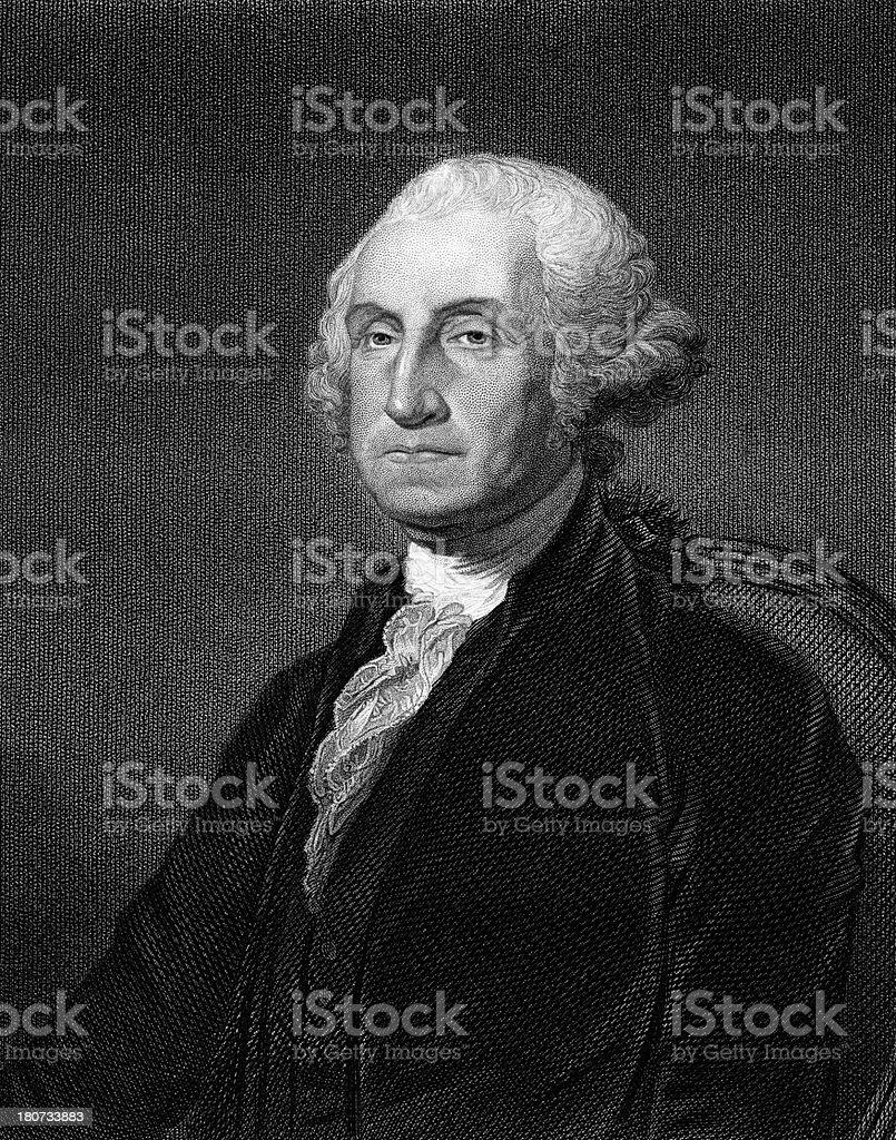 George Washington,1st President of the United States vector art illustration