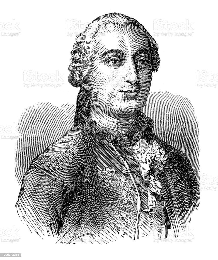 조르주 루이 르 클레 르, 콩트 드 부폰 (1707 년 9 월 월 7 일-16 4 월 1788)은 프랑스 자연주의 수학자, cosmologist, encyclopédiste. - 로열티 프리 19세기 스톡 일러스트