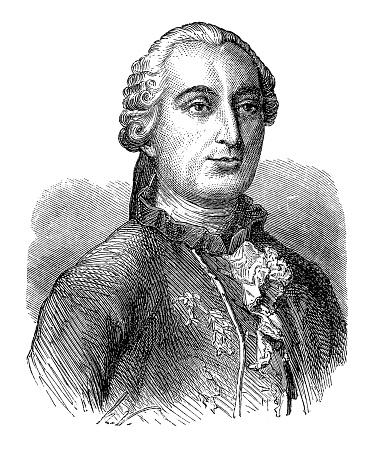 조르주 루이 르 클레 르 콩트 드 부폰 은 프랑스 자연주의 수학자 Cosmologist Encyclopédiste 19세기에 대한 스톡 벡터 아트 및 기타 이미지