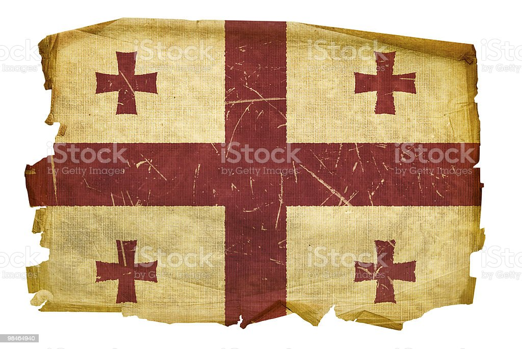 Georgia Flag old, isolated on white background. royalty-free georgia flag old isolated on white background stock vector art & more images of aging process