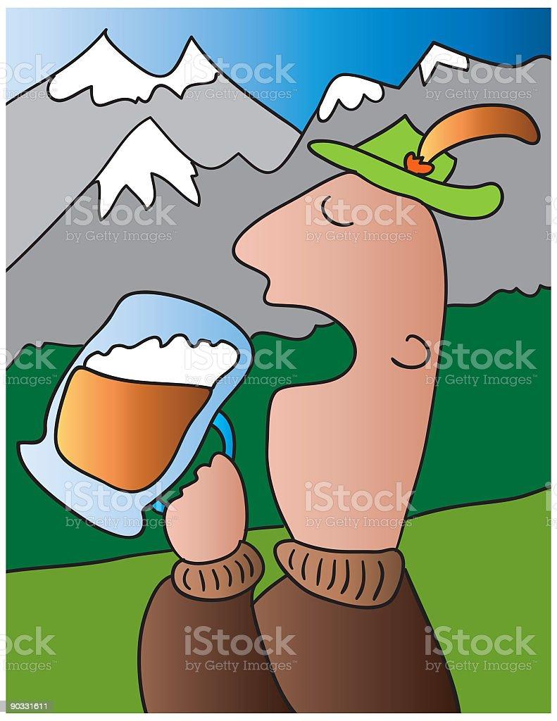 German beer royalty-free stock vector art