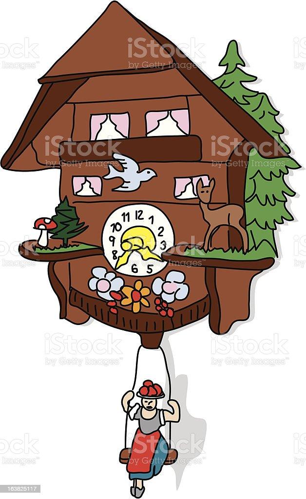 German Cuckoo clock royalty-free stock vector art