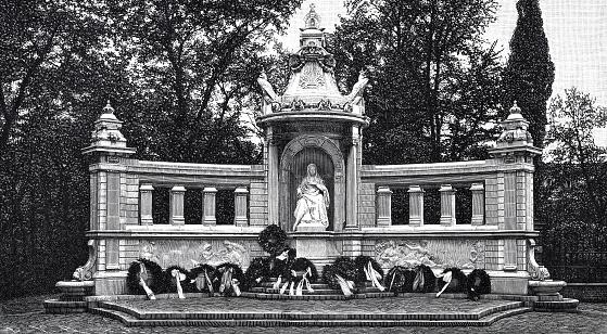 German Empress Augusta monument in Koblenz