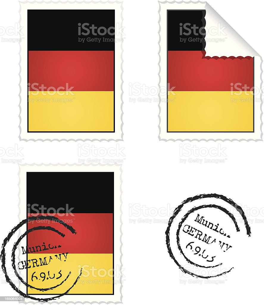German Flag Stamp Set royalty-free stock vector art