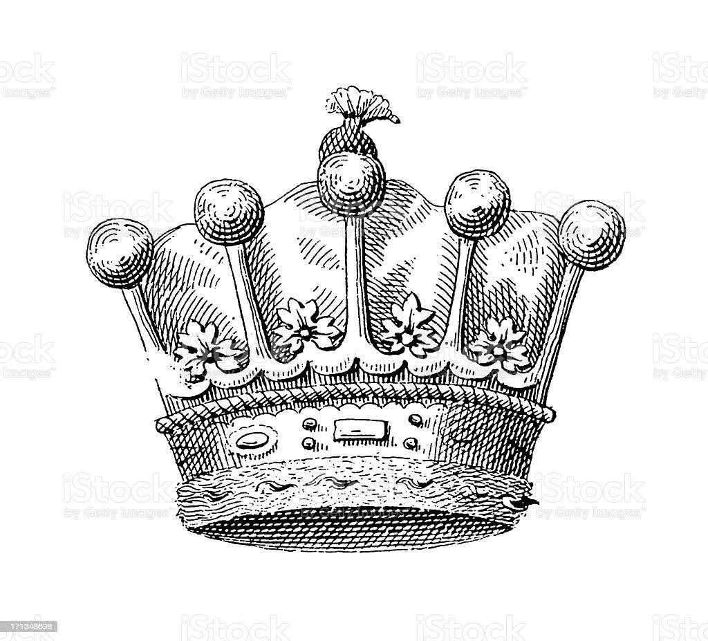 German Graf Crown   Historic Symbols of Monarchy and Rank royalty-free stock vector art