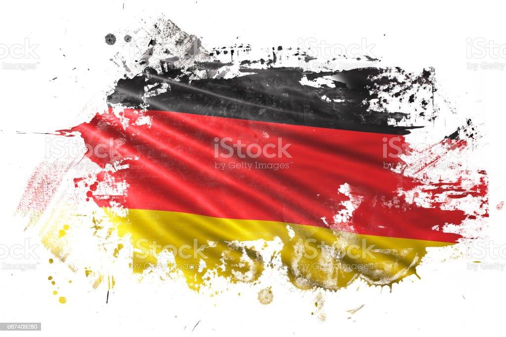 Bandera del Grunge de tinta alemana - ilustración de arte vectorial