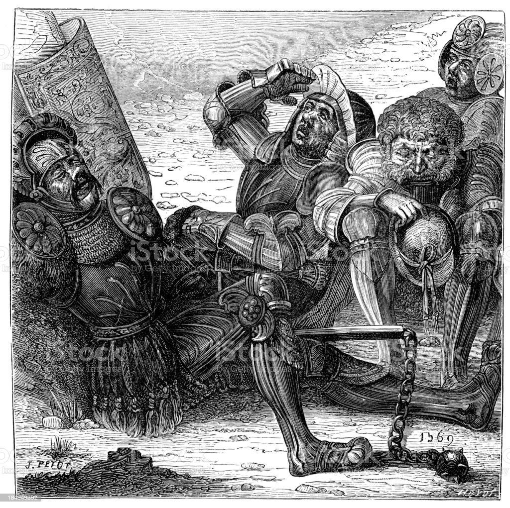 German Mercenaries royalty-free stock vector art