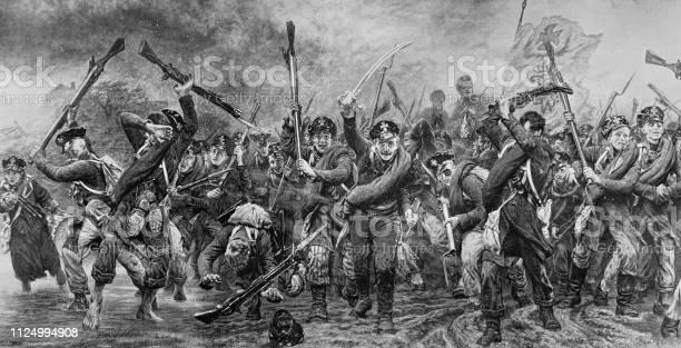 ナポレオン解放戦争でドイツの軍隊 - 19世紀のベクターアート素材や ...