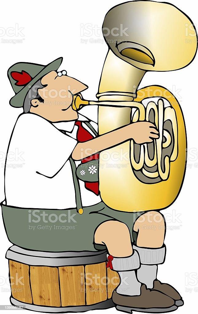 German tuba player royalty-free german tuba player stock vector art & more images of adult