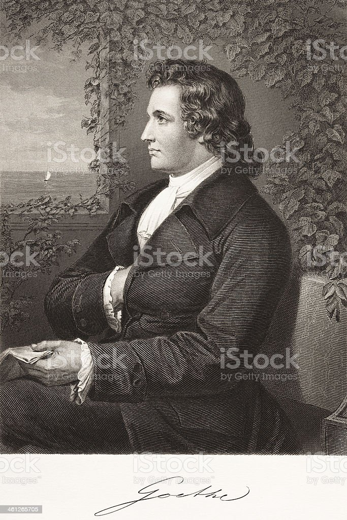 German writer Johann Wolfgang von Goethe 1870 royalty-free german writer johann wolfgang von goethe 1870 stock vector art & more images of 18th century