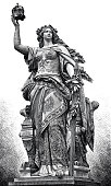 istock Germania statue on the Niederwalddenkmal near Rüdesheim 1281938650
