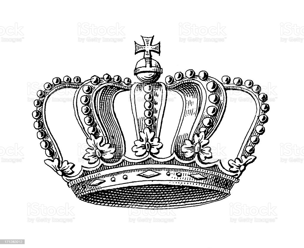 Germanic Grand Duke Crown Symbols Of Monarchy And Rank Stock Vector