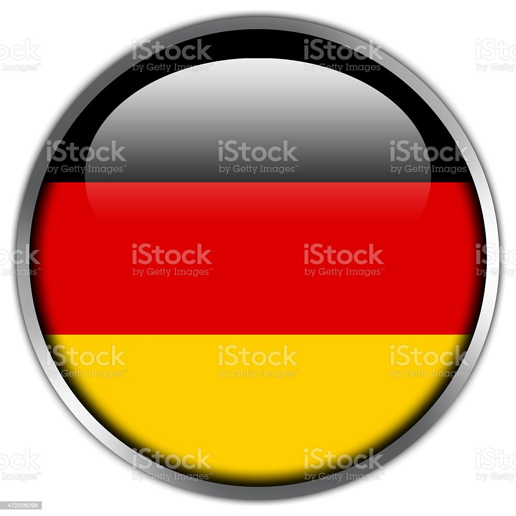 Germany Flag glossy button royalty-free stock vector art