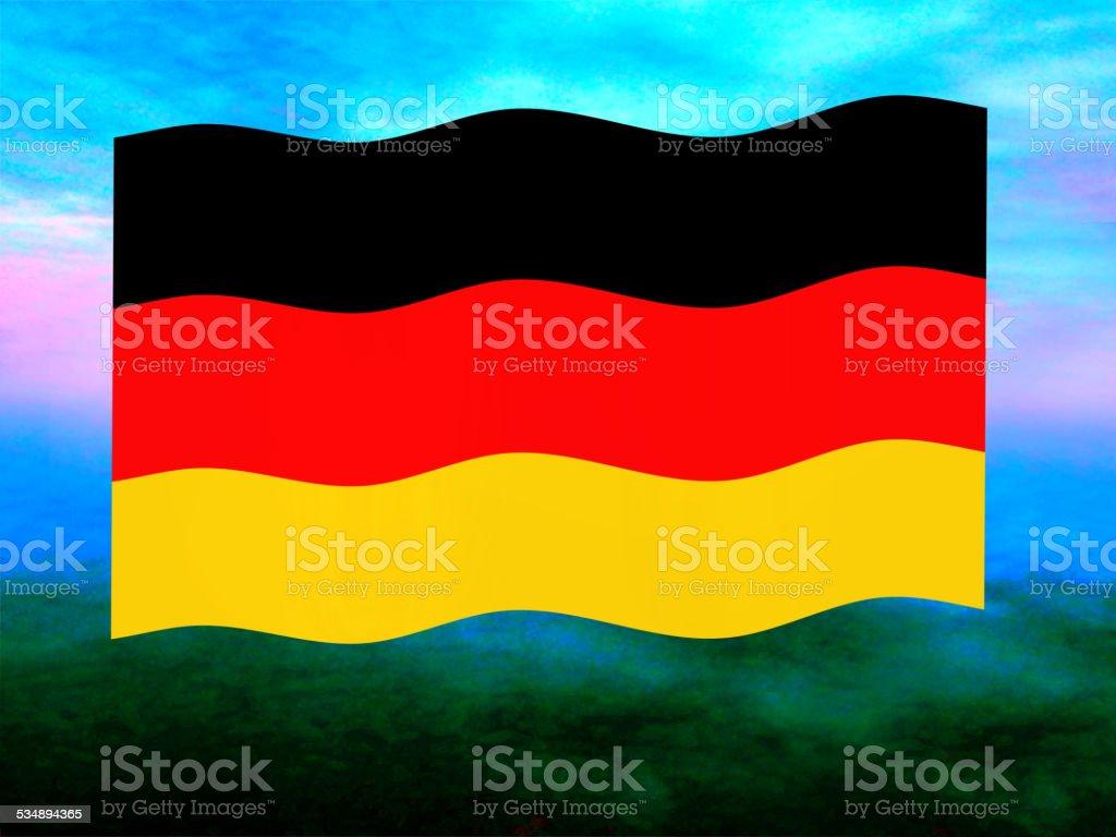 Germany flag vector art illustration