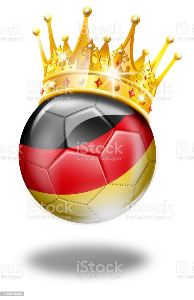Germany Soccer Ball With German Flag And Crown Stock Vector Art