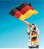 Germany Waving Flag Soccer Fan