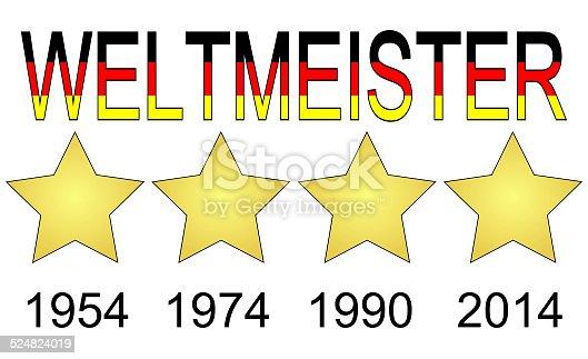 istock Germany World Champion 1954, 1974, 1990 and 2014 524824019