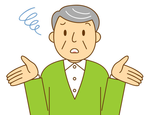 gesture and behavior of senior men - old man crying stock illustrations, clip art, cartoons, & icons