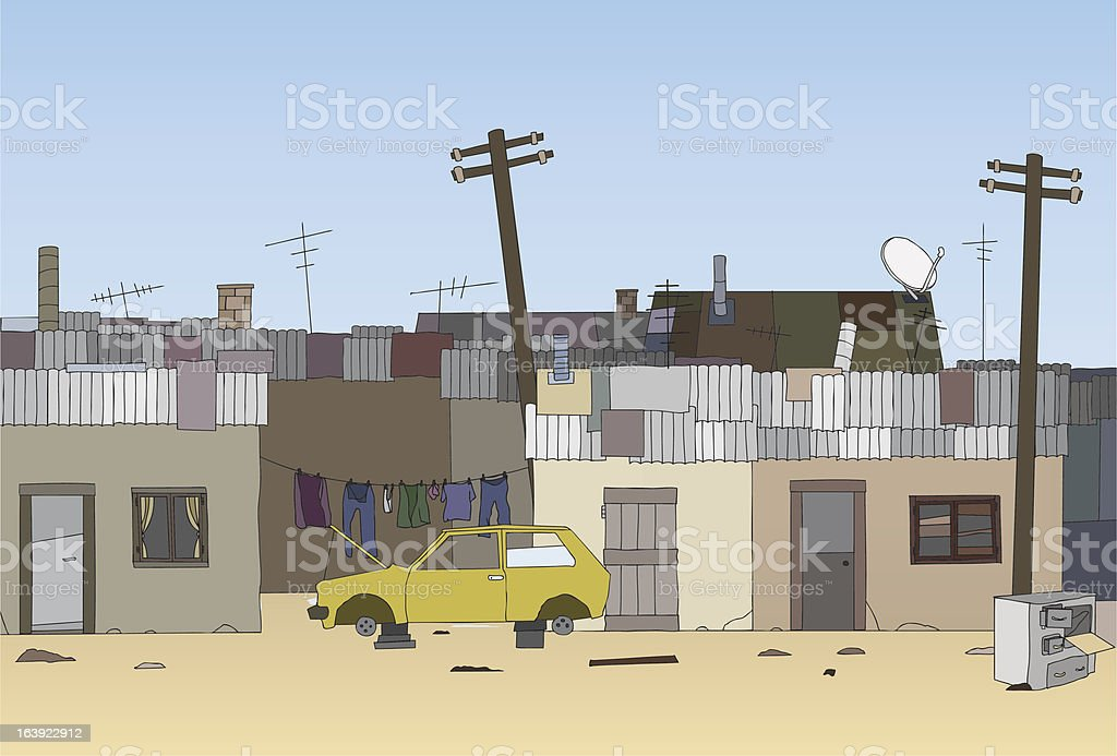 Ghetto background vector art illustration