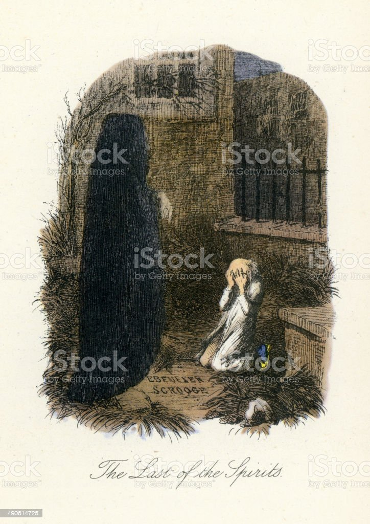 Ghost Of Christmas Yet To Come.Ghost Of Christmas Yet To Come Stock Illustration Download