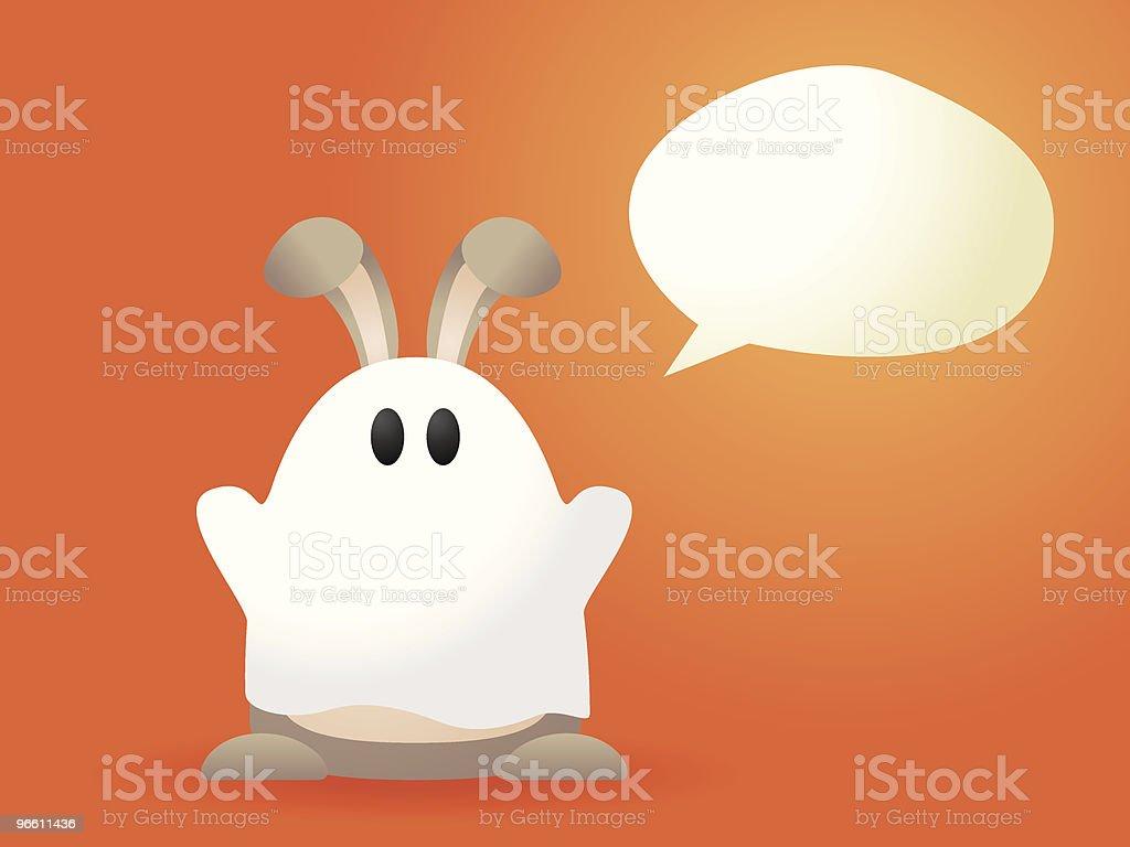 Ghost Wabbit ! - Royalty-free Animal Representation stock vector