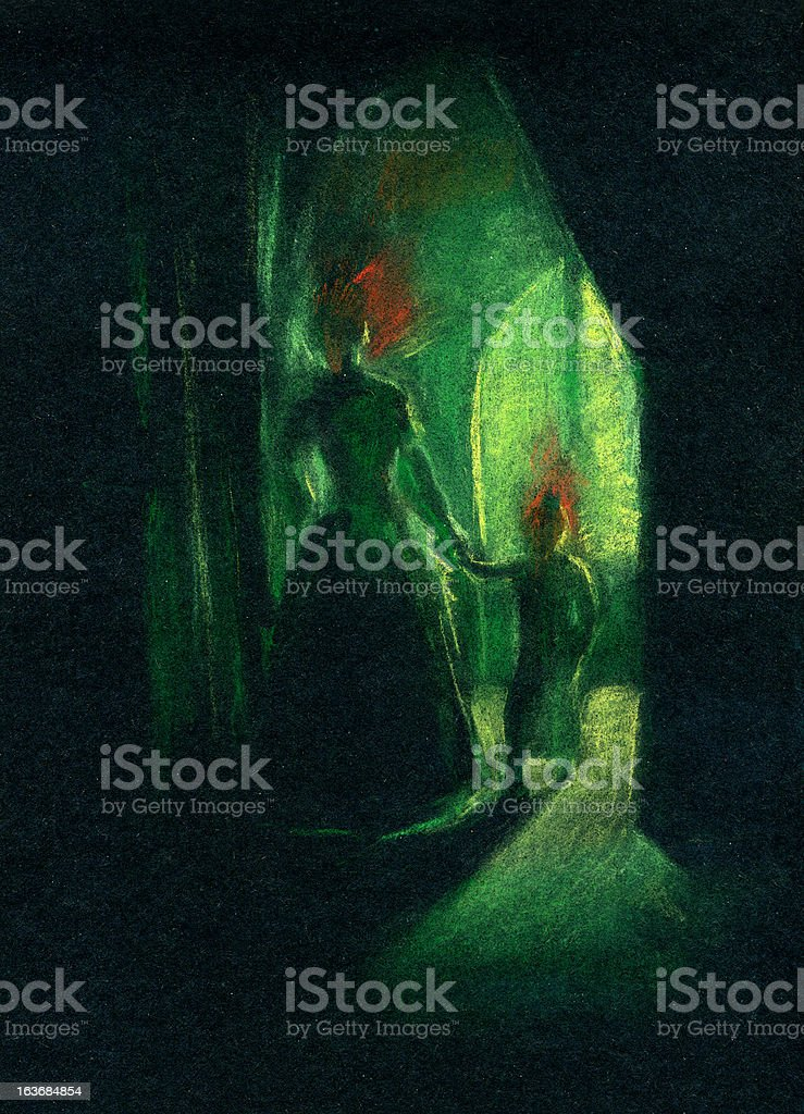 Ghosts royalty-free ghosts stock vector art & more images of back lit