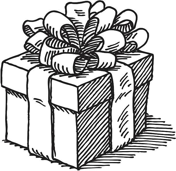 Royalty Free Black Gift Box Clip Art, Vector Images ...