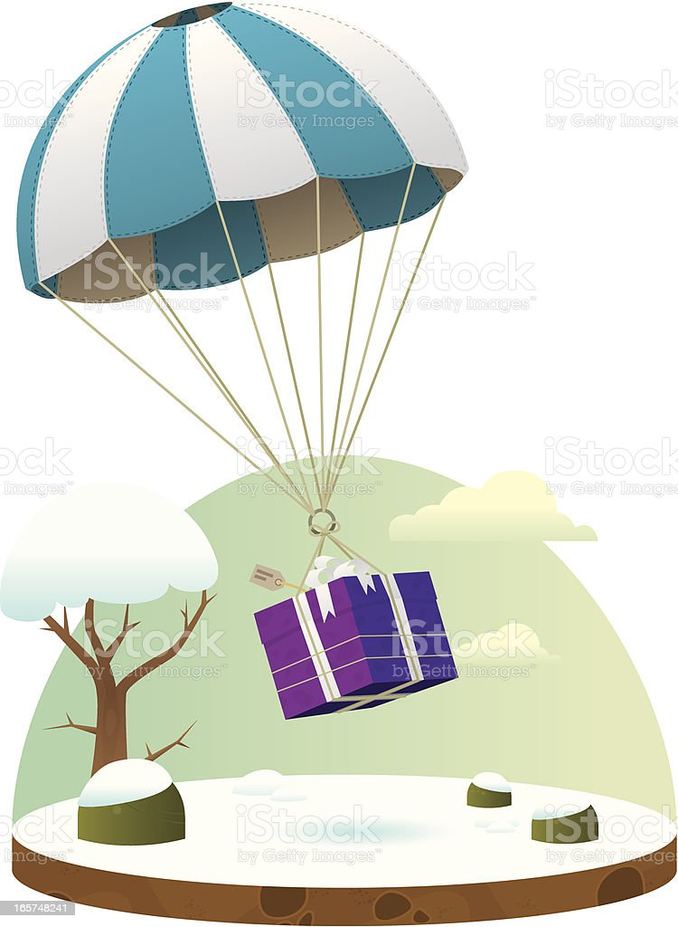 Gift falling from the sky royalty-free gift falling from the sky stock vector art & more images of bush