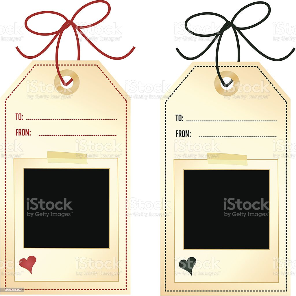 Gift Tags - add your picture! royalty-free gift tags add your picture stock vector art & more images of adhesive tape