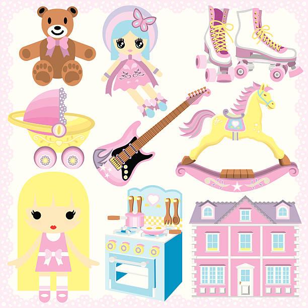 ilustrações de stock, clip art, desenhos animados e ícones de presentes para raparigas - cooker happy