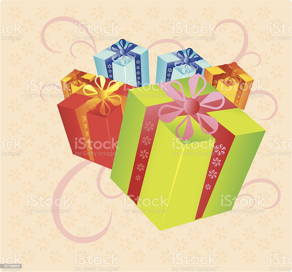 gifts - Royalty-free Box - Container stock vector