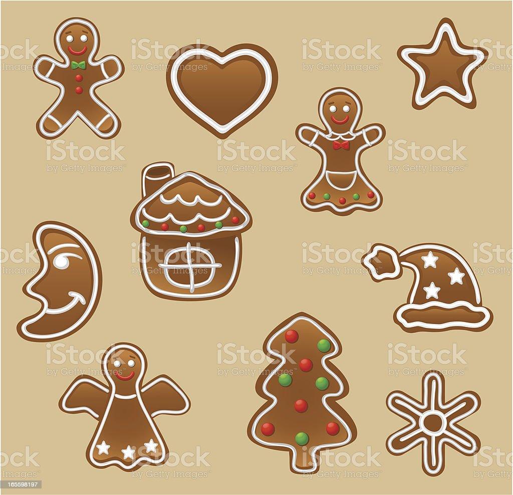De jengibre de las cookies ilustración de de jengibre de las cookies y más banco de imágenes de alimento libre de derechos