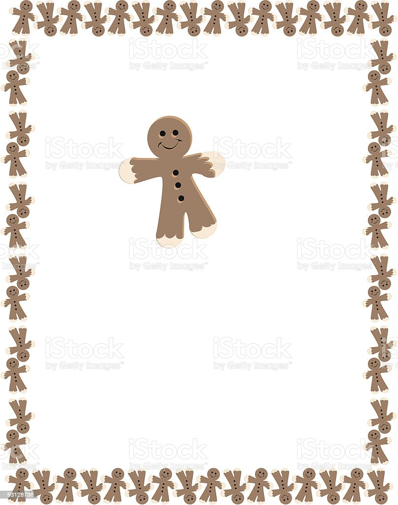 Gingerbread Man Border royalty-free stock vector art