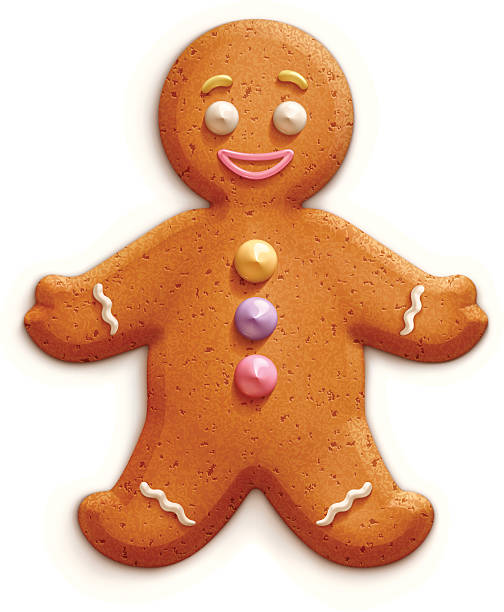 stockillustraties, clipart, cartoons en iconen met gingerbread man - speculaas