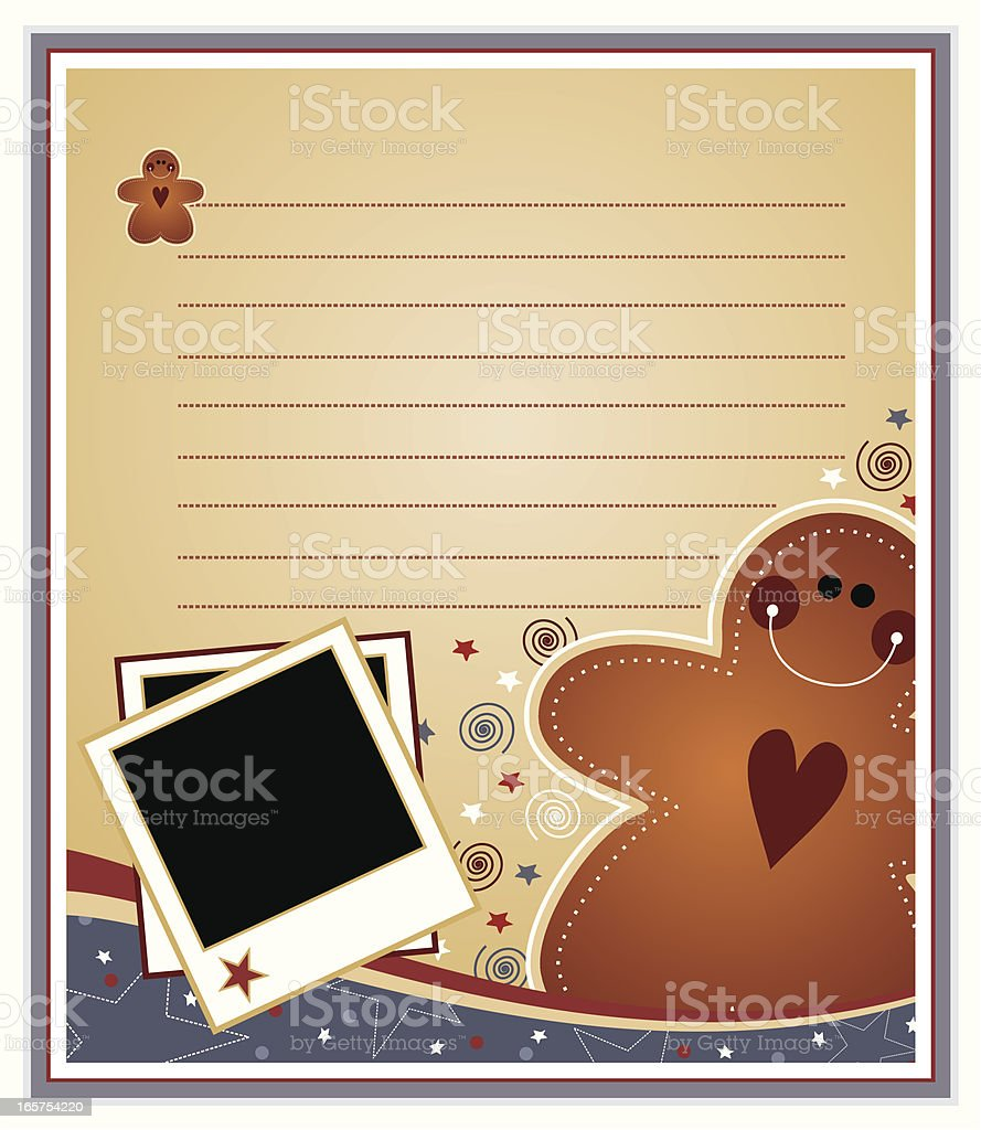 Gingerbread Man Page royalty-free stock vector art