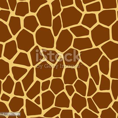 Giraffe skin seamless pattern. Seamless animal print